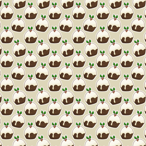 Christmas Puddings fabric by hazel_fisher_creations on Spoonflower - custom fabric