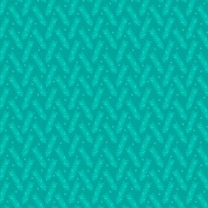 Woven Wheat in Teal