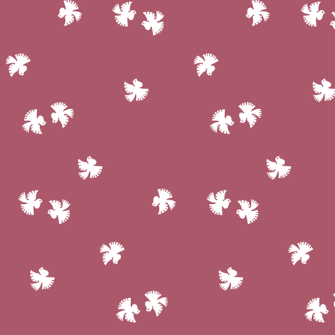 Little doves - 1940s fabric fabric by eloise_varin on Spoonflower - custom fabric