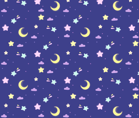 Pastel sky fabric by risu_rose on Spoonflower - custom fabric