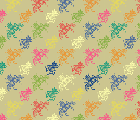 Entomology Surface fabric by dinorahaleatelier on Spoonflower - custom fabric