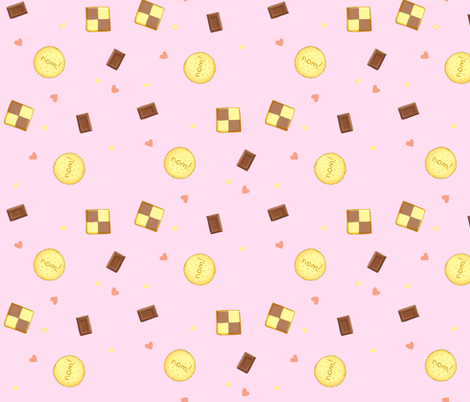 Sweet noms fabric by risu_rose on Spoonflower - custom fabric
