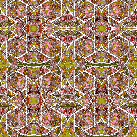 Stained Glass Garden #3310363 fabric by edsel2084 on Spoonflower - custom fabric