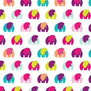 Cute baby elephant parade girls theme Small