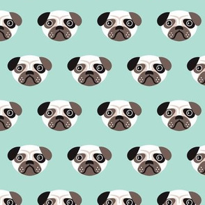 Pug the blue puppy illustration kids pattern