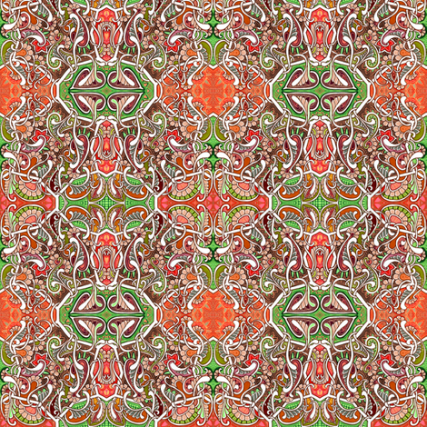 Twas Three Months Before Christmas fabric by edsel2084 on Spoonflower - custom fabric