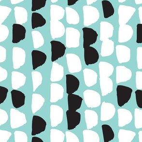 Raw pastel brush geometric abstract print
