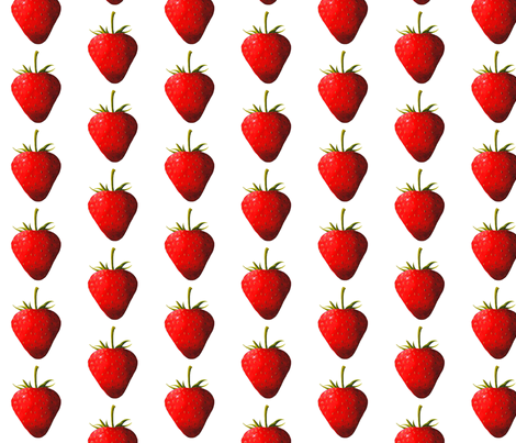 Strawberry fabric by interrobangart on Spoonflower - custom fabric