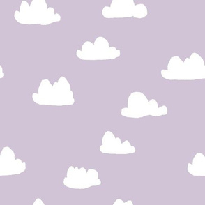 clouds // lavender purple girly print for sweet little girls