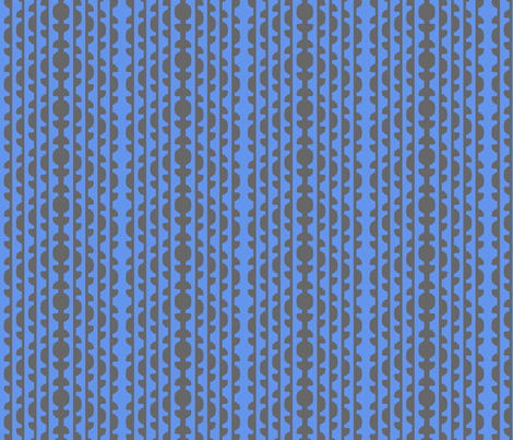 Topiary Stripe   -60% Grey and 6495ed Blue fabric by fireflower on Spoonflower - custom fabric