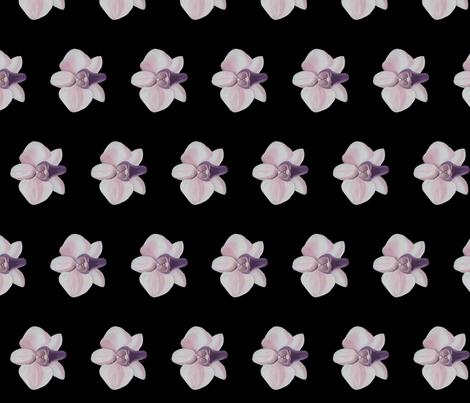 Lilac orchid black side fabric by interrobangart on Spoonflower - custom fabric