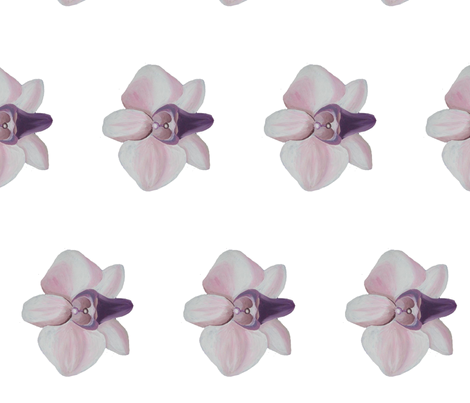 Lilac orchid white side fabric by interrobangart on Spoonflower - custom fabric