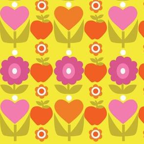 Floral Heart Stripe II