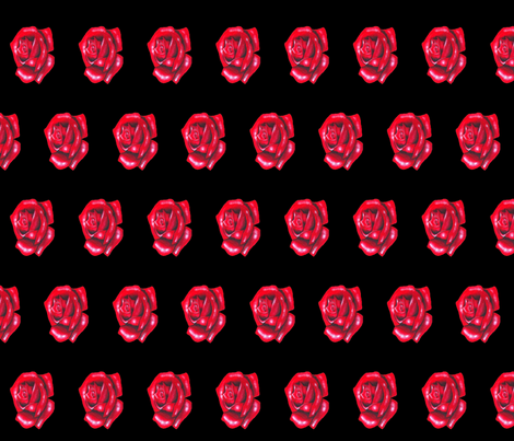 Rose black side fabric by interrobangart on Spoonflower - custom fabric