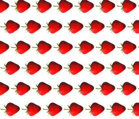 Strawberry side fabric by interrobangart on Spoonflower - custom fabric