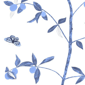 Jenny Kumquat in delft blue