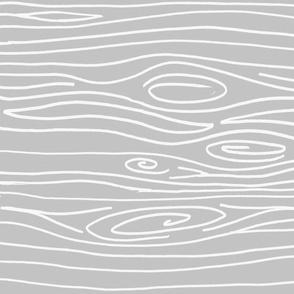 Wonky Woodgrain - Light Light Grey - Horizontal