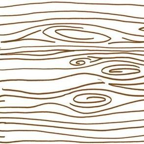 Wonky Wood - Brown - Horizontal