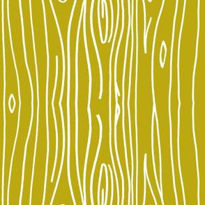Wonky Woodgrain - Mustard