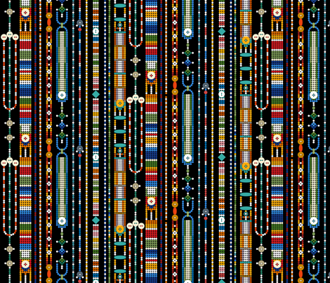 Bead Stripe fabric by stitchyrichie on Spoonflower - custom fabric