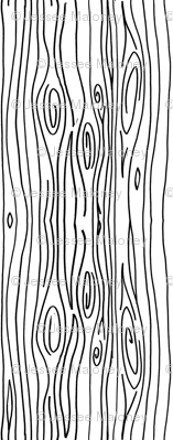 Wonky Woodgrain Black Lines Fabric Jesseesuem