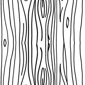 Wonky Woodgrain - Black Lines