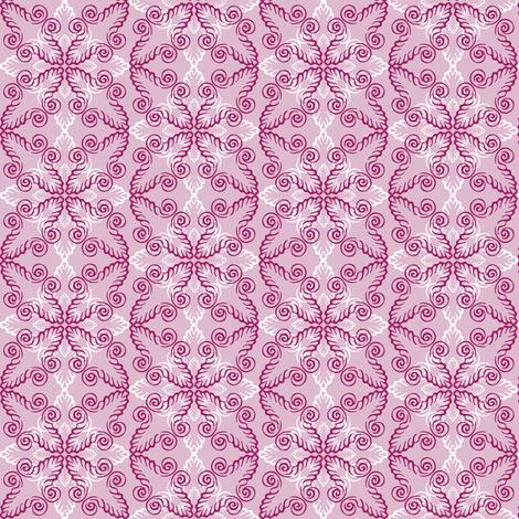 pink swirls fabric by dunnspun on Spoonflower - custom fabric