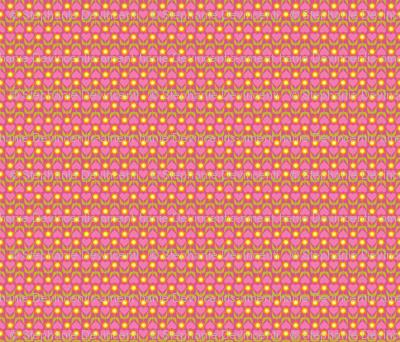 Floral Heart Stripe - Pink