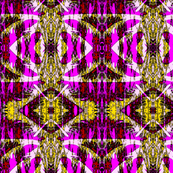 Batik Style in vibrant purples and yellows