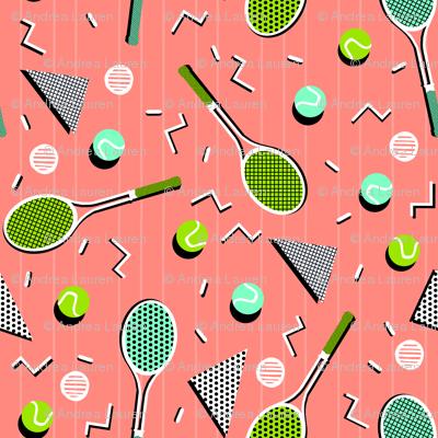 80s Tennis Lesson by Andrea Lauren