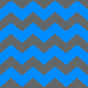 Chevron Blue/Grey Dark Large