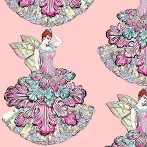 Victorian Fairy in Peach
