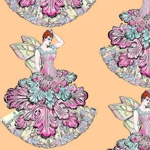 Pastel Victorian Fairy in Warm Peach