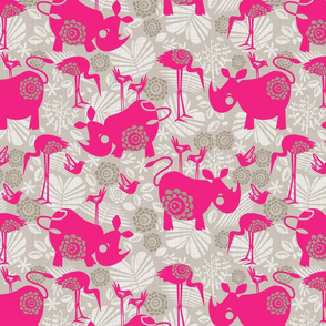 happy pink rhinos