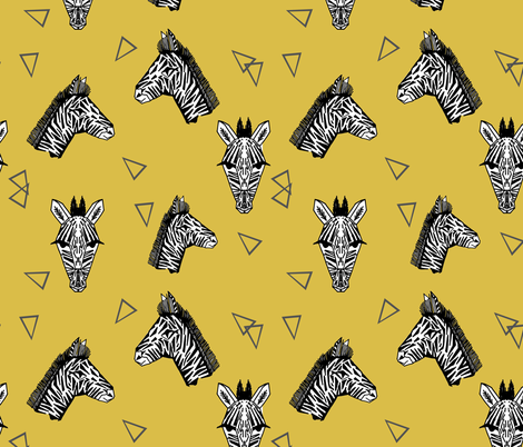 Zebras - Mustard by Andrea Lauren fabric by andrea_lauren on Spoonflower - custom fabric