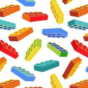 Kids' Building Blocks on white