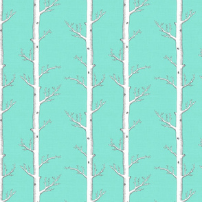 Birch Forest Aquamarine