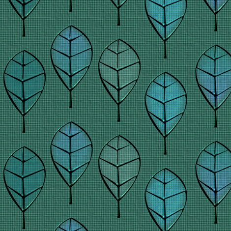 leaves_metalworked_patina fabric by glimmericks on Spoonflower - custom fabric