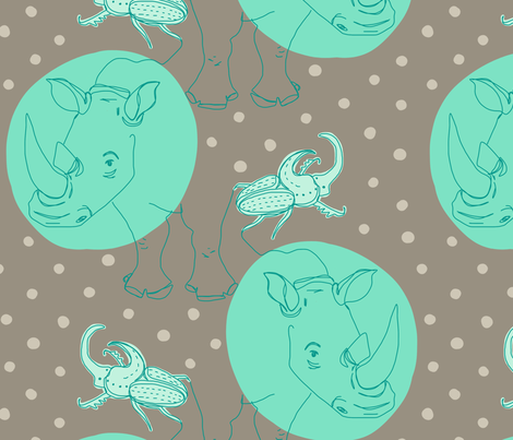 rhinoceros [beetle] fabric by aplcreations on Spoonflower - custom fabric