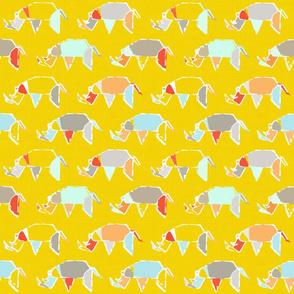 Origami Rhinos
