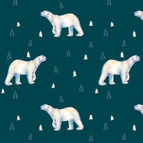 Polar Bear Deep Ocean Green