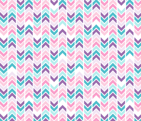 Herringbones - blue and pink fabric by mellymellow on Spoonflower - custom fabric