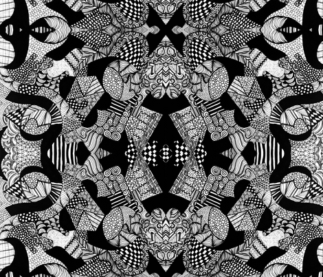 Doodle Zags fabric by vibrantkicks on Spoonflower - custom fabric