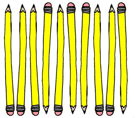 Pencil Point fabric by vibrantkicks on Spoonflower - custom fabric