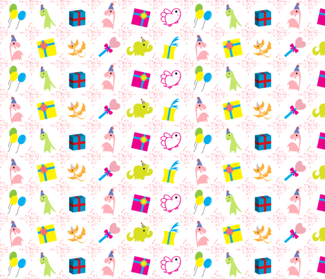 Party_dinos fabric by may_leong on Spoonflower - custom fabric