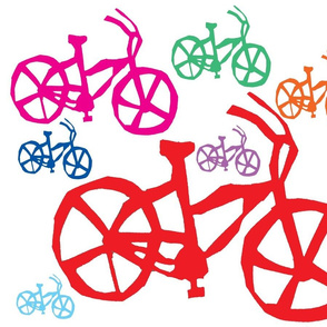colored bikes