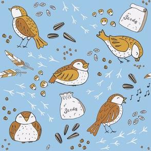 Blue Fat Sparrow Feast - SMALL