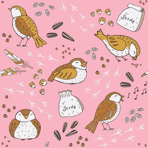 Pink Fat Sparrow Feast - SMALL