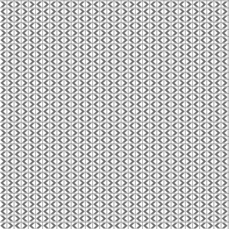 Chevron Darts - Dark Grey on White fabric by rhondadesigns on Spoonflower - custom fabric