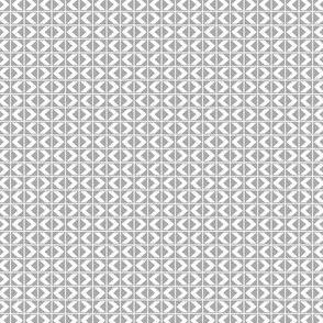 Chevron Darts - White on Light Grey